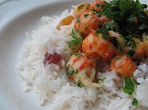 Langoustines and Rice With Raisins